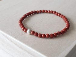 Fijne armband rode jaspis