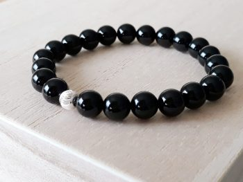 Armband Onyx - zilver