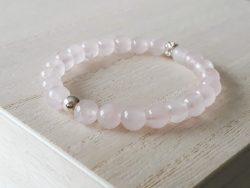 Armband rozenkwarts voor meisjes