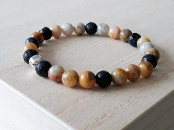 Armband voor jongens - agaat - bruin