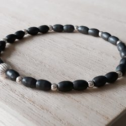 Hematiet armband I Tiquarzo Hematite pearl grey