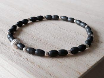 Armband Hematiet - zilver - fijn