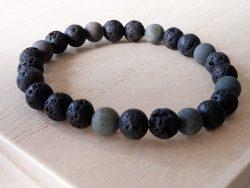 Armband voor mannen - jaspis - grijs