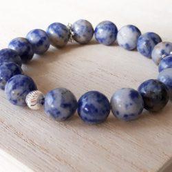 Sodaliet armband beauty blue