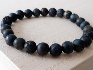 Armband Tijgeroog blauw voor mannen