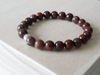 Armband Japis rood met zilver