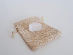 seleniet trommelsteen - witte seleniet