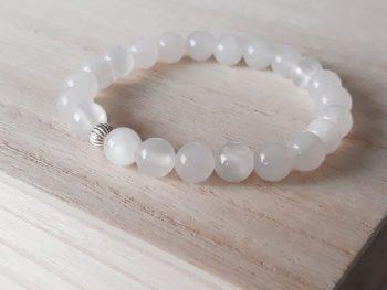 Armband witte jade