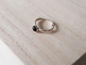 Ring zilver - onyx - edelsteen