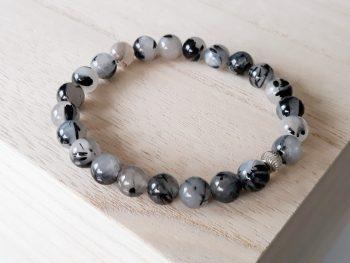 Rutielkwarts armband met zilver