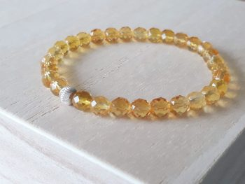Armband citrien - zilver