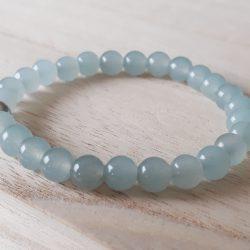 Agaat armband blauw voor meisjes