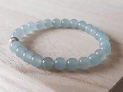 Armband agaat - voor meisjes - blauw