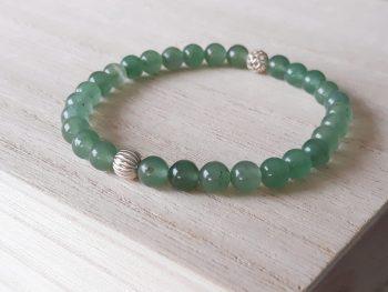 Armband groene aventurijn - zilver