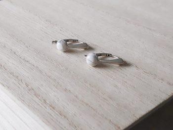 Oorbellen howliet - zilver - fijn