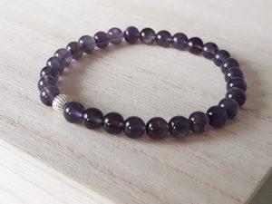 Amethist armband purple pure