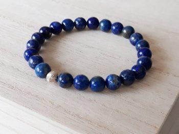 Lapis Lazuli armband natuurlijk donkerblauw