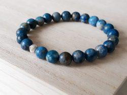 Armband Lapis Lazuli - 8 mm - mat - zilver