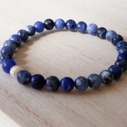 Armband Sodalite blue night