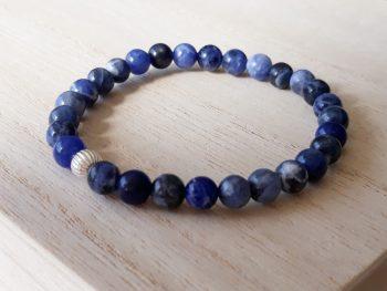 Armband Sodalite blue night