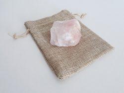 Rozenkwarts ruw - circa 75 gram