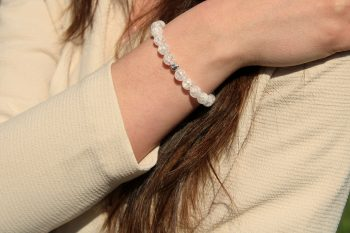 bracelet cristal de roche - 8 mm