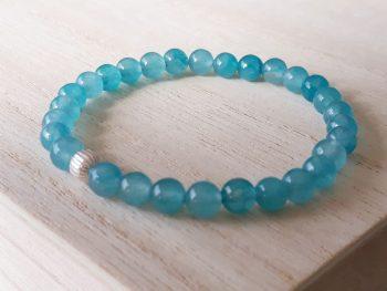 Armband agaat - blauw