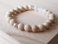 Edelsteen armband - jaspis - bergkristal