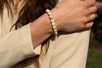 bracelet jaspe - cristal de roche