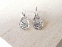 Oorbellen kristal - zilver