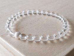 Armband bergkristal - 6 mm