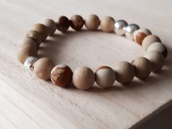 Edelsteen armband - woestijn jaspis