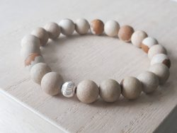 Armband jaspis - woestijn jaspis - zilver