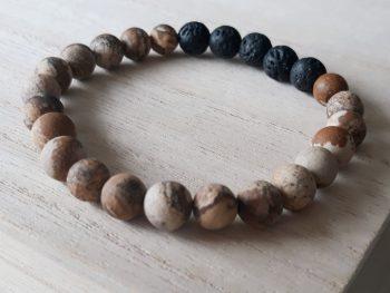 Armband voor mannen – woestijn jaspis