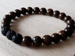 Armband jaspis voor mannen - bruin