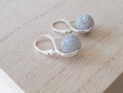 Oorbellen agaat - zilver