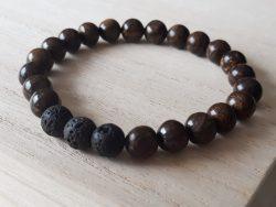 Armband voor mannen – jaspis - bruin
