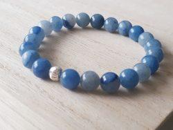Armband blauwe aventurijn - zilver