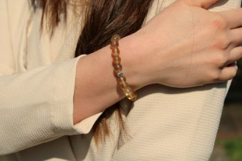 bracelet fluorite - 8 mm - argent