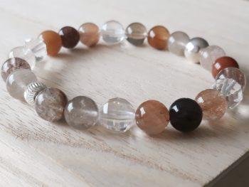 Armband rutielkwarts - bergkristal