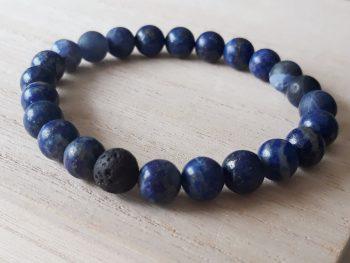 Armband voor mannen - lapis lazuli - sodaliet