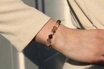 Bracelet quartz rutile - cristal de roche
