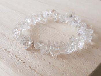 Armband bergkristal - splitkralen - 925 zilver