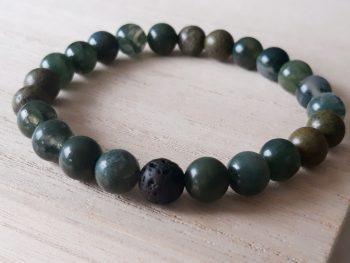Armband voor mannen - jade - mosagaat