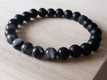 Armband voor mannen - onyx - rutielkwarts